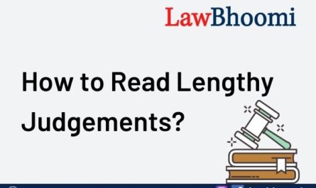 how to read lengthy judgements